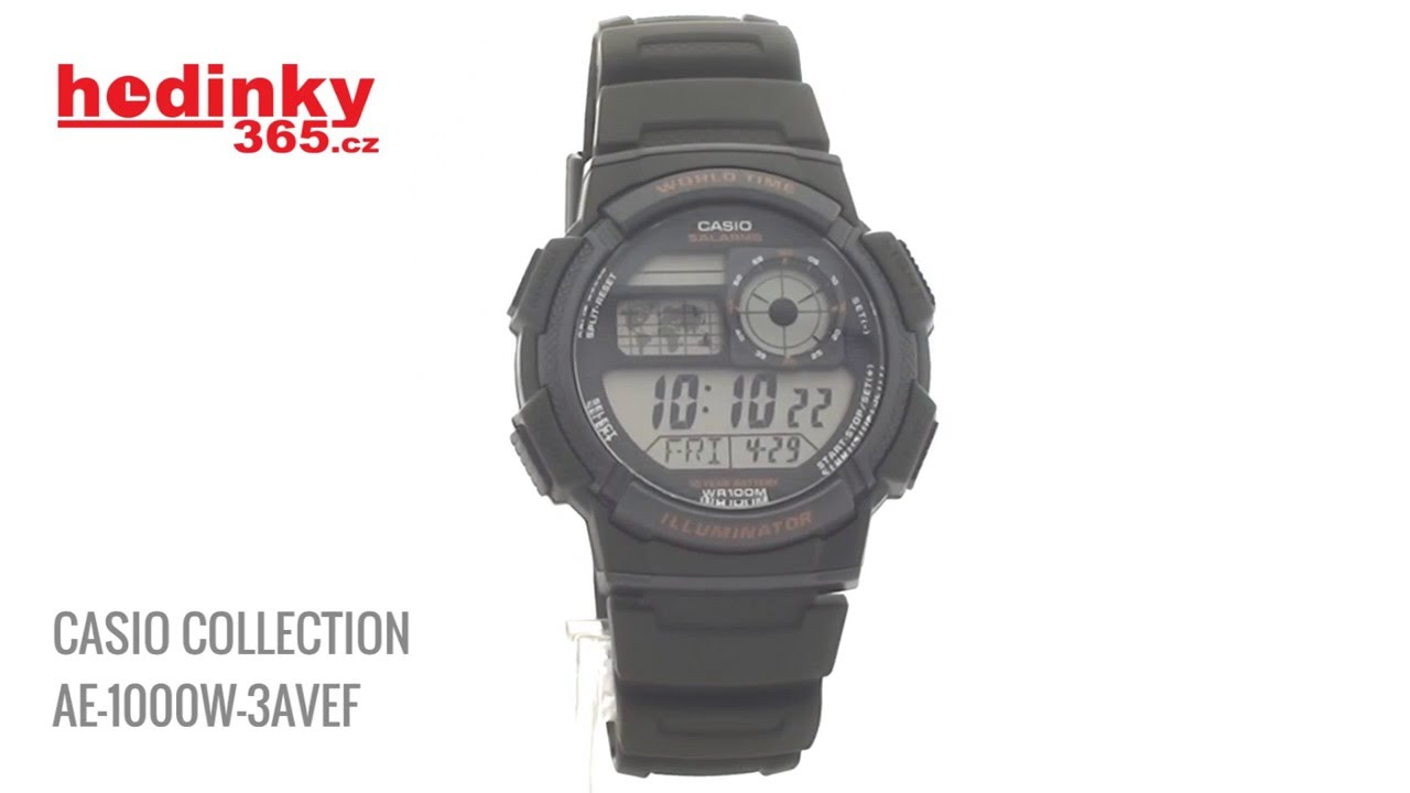 Casio Collection Ae 1000w 3avef Youtube Jam Tangan Standard 1200wh 1avef