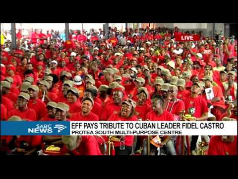Julius Malema pays tribute to Fidel Castro