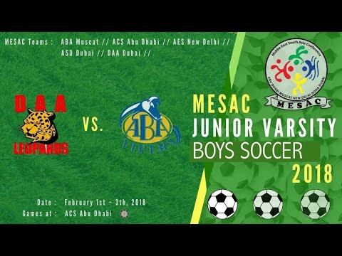 JV Boys Football MESAC 2018: ABA vs DAA at ACS