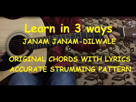 Janam Janam Guitar Chords Lesson With Intro Tabs | Cover | Arijit Singh | Dilwale | FuZaiL Xiddiqui