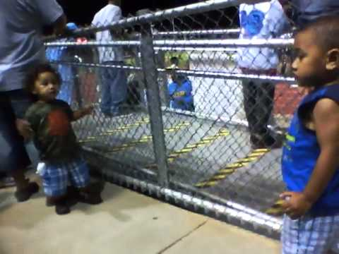 Sione & Tofi at the football game dancing