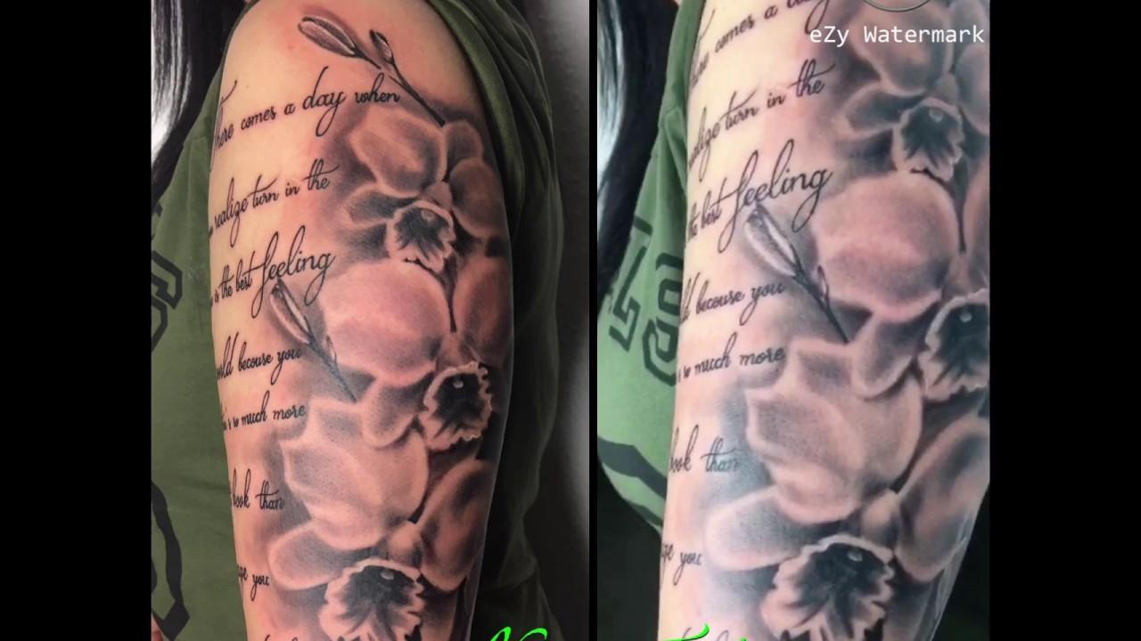 Schrift Blumen Tattoo Youtube
