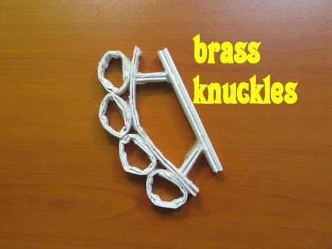 How to Make a Brass Knuckles - Easy Tutorials