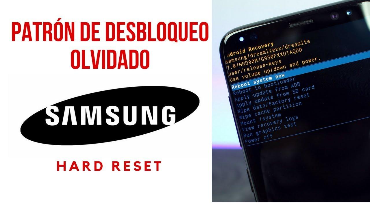 Como Quitar Patrón De Desbloqueo Samsung Youtube