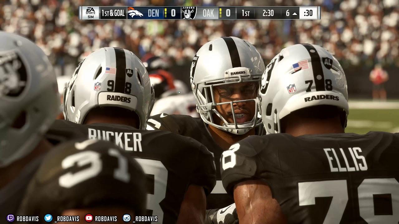 Madden 19 PC | Broncos & Raiders | Reshade Version 1 Download | 4K