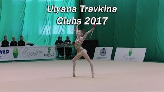 Ulyana Travkina Clubs / Russian young extremely flexible rhythmic gymnast