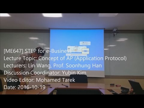 STEP for e-Business : Concept of AP (Application Protocol)