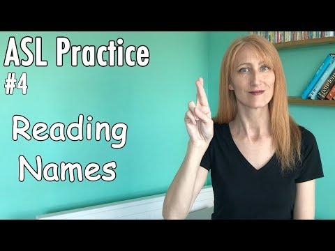 #4 Reading ASL Names Practice   Learn Finger Spelling