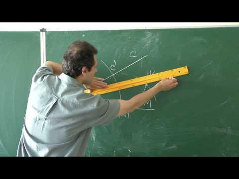 Как построить прямой угол с помощью циркуля и линейки