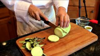 Making Flourless Eggplant Parmesan