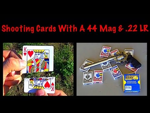 Shooting Cards With A 44 Magnum & .22 LR