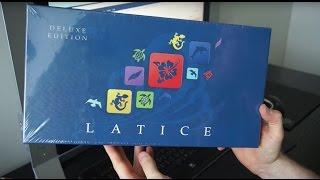 Le jeu de société Latice, édition Deluxe, de chez Adacio