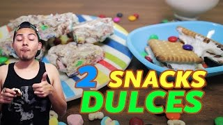 SNACKS DULCES + ME VOY A LOS ANGELES!!!! (S´MORES) | POSTRES FÁCILES Thumbnail