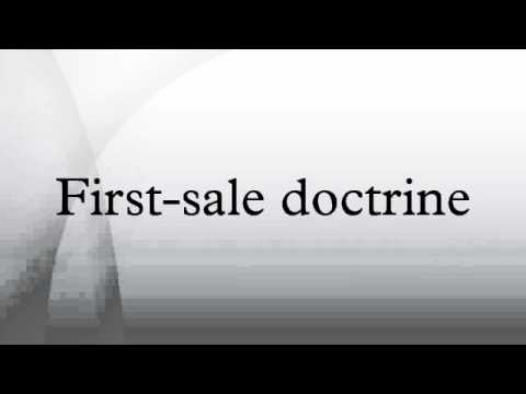 First-sale doctrine