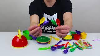 Обзор набора детской посуды 32 предмета Юника (арт. 0637)