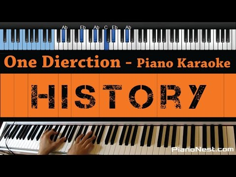 One Direction - History - LOWER Key (Piano Karaoke / Sing Along)
