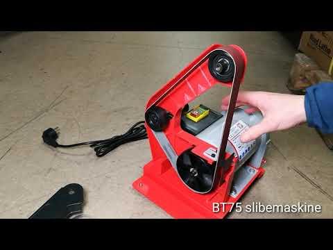 BT75 slibemaskine båndskift