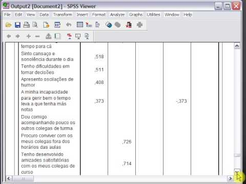 Factor analysis thesis