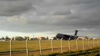 USAF Lockheed C-5 Galaxy take off at Tallinn