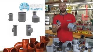 видео Сантехнические трубы и переходники для канализации из ПВХ