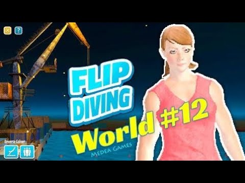 Flip Diving Girl Diver The Crane Backflip Grab - by Miniclip | Gameplay (iOS/Android)