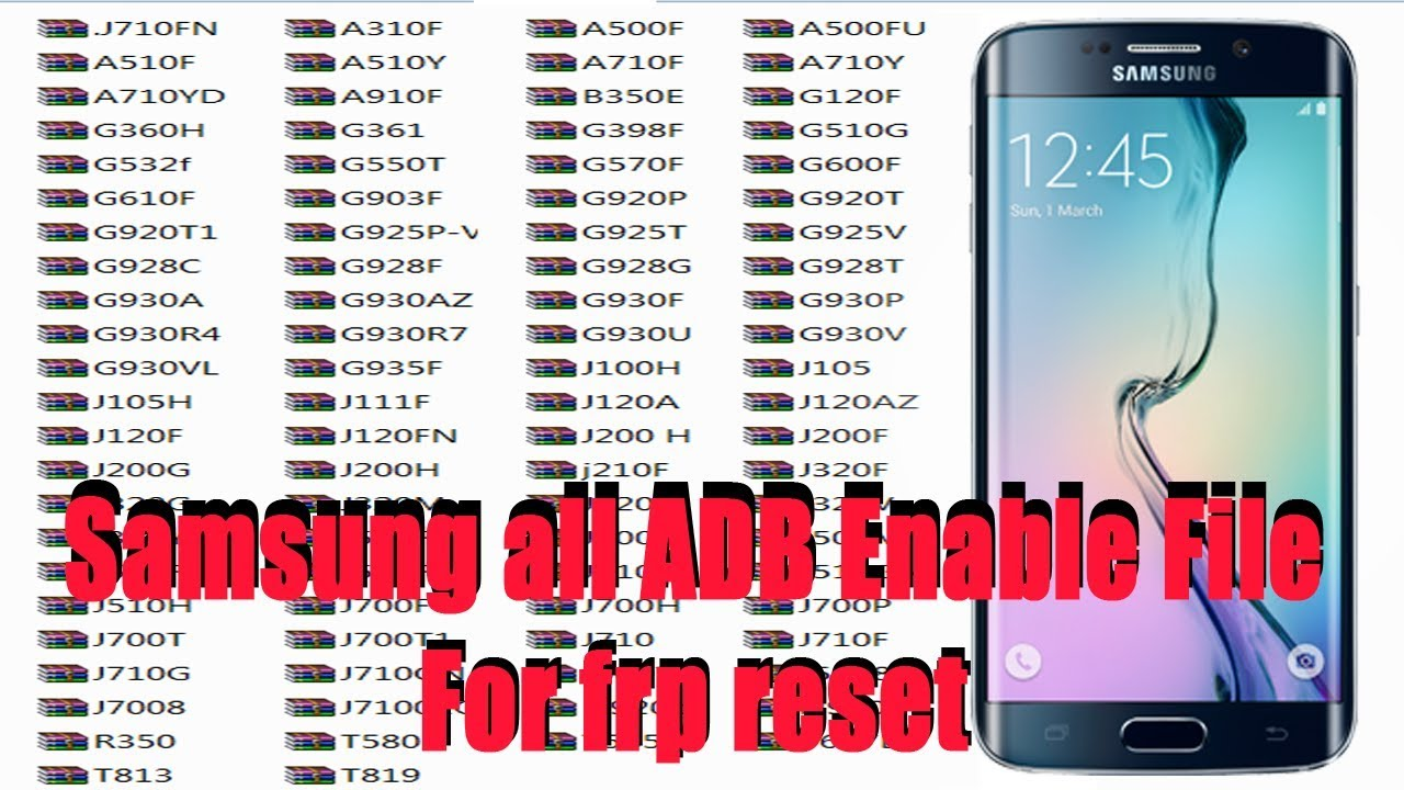 Samsung all ADB Enable File Download | with tool for frp reset (2019)