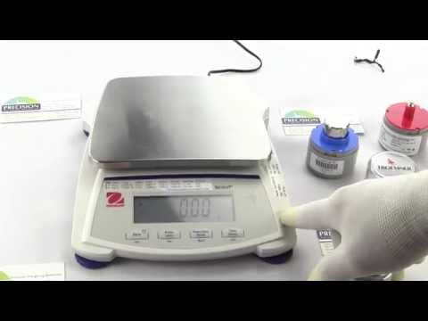 How to Calibrate the Ohaus Scout Digital Scale Model SJX1502