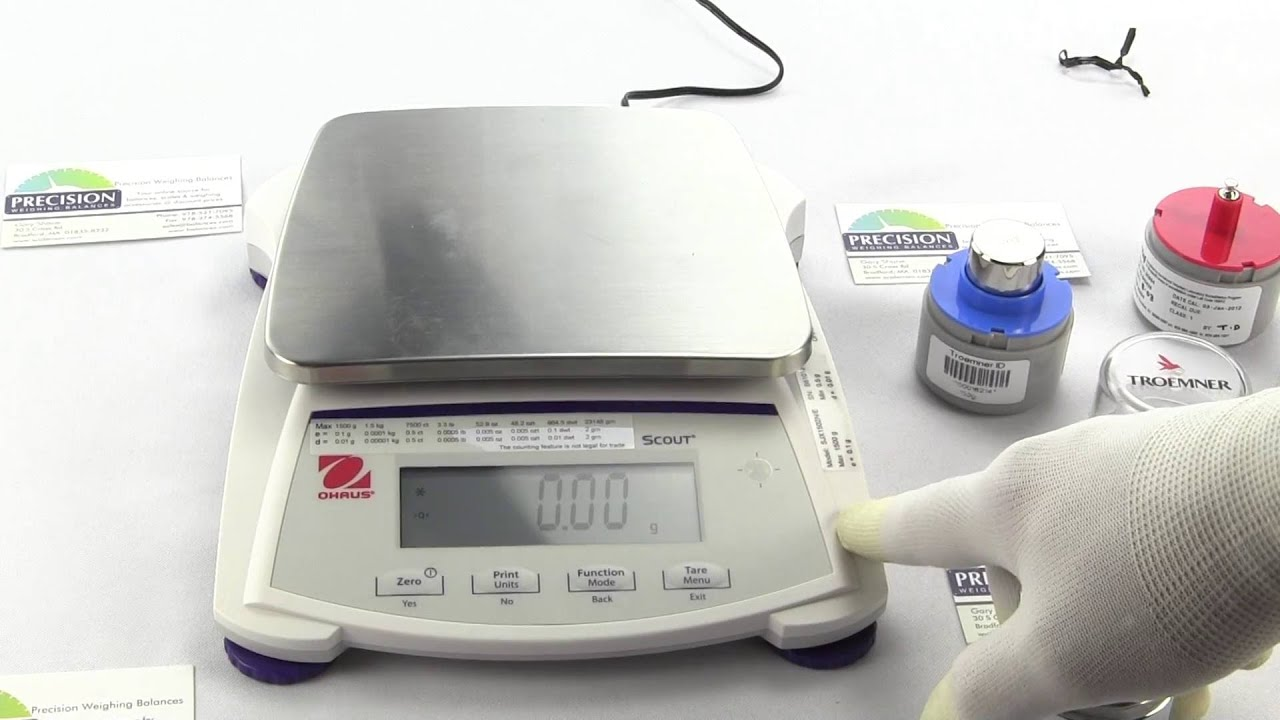 How to Calibrate the Ohaus Scout Digital Scale Model ...