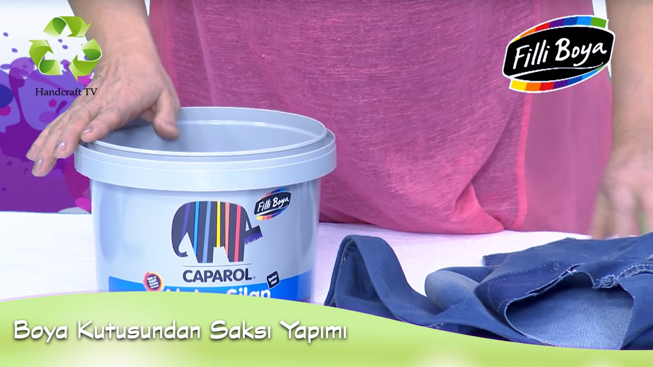 Boya Kutusuyla Saksı Yapımı Flower Pot Making With Paint Box Youtube