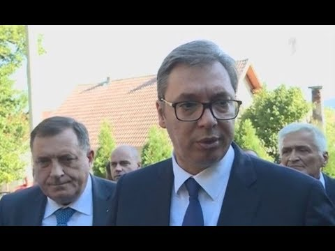 Први председник Србије у Дрвару - Александар Вучић