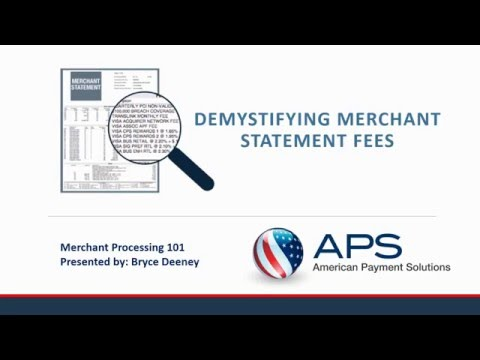 Credit Card Processing 101 Demystify Your Merchant Statement Fees