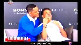 Will Smith Kisses Jaden Smith   Woody Thai TV Show
