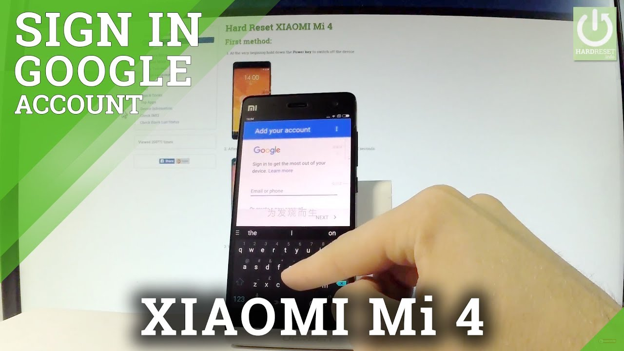 How to Add Google Account in XIAOMI Mi 4