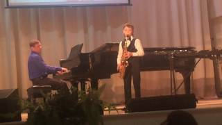 "Байбородин Иван, 9 лет, саксофон. Джованни Баттиста Пешетти, ""Престо"""
