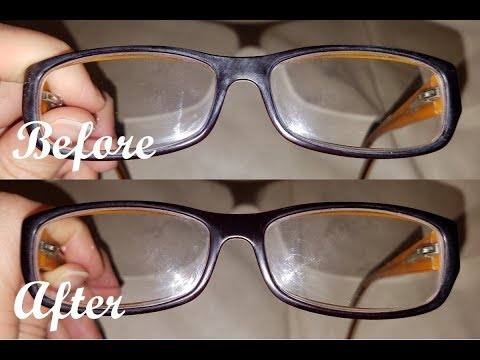 HOW TO REMOVE SCRATCHES ON YOUR EYE GLASSES USING BAKING SODA