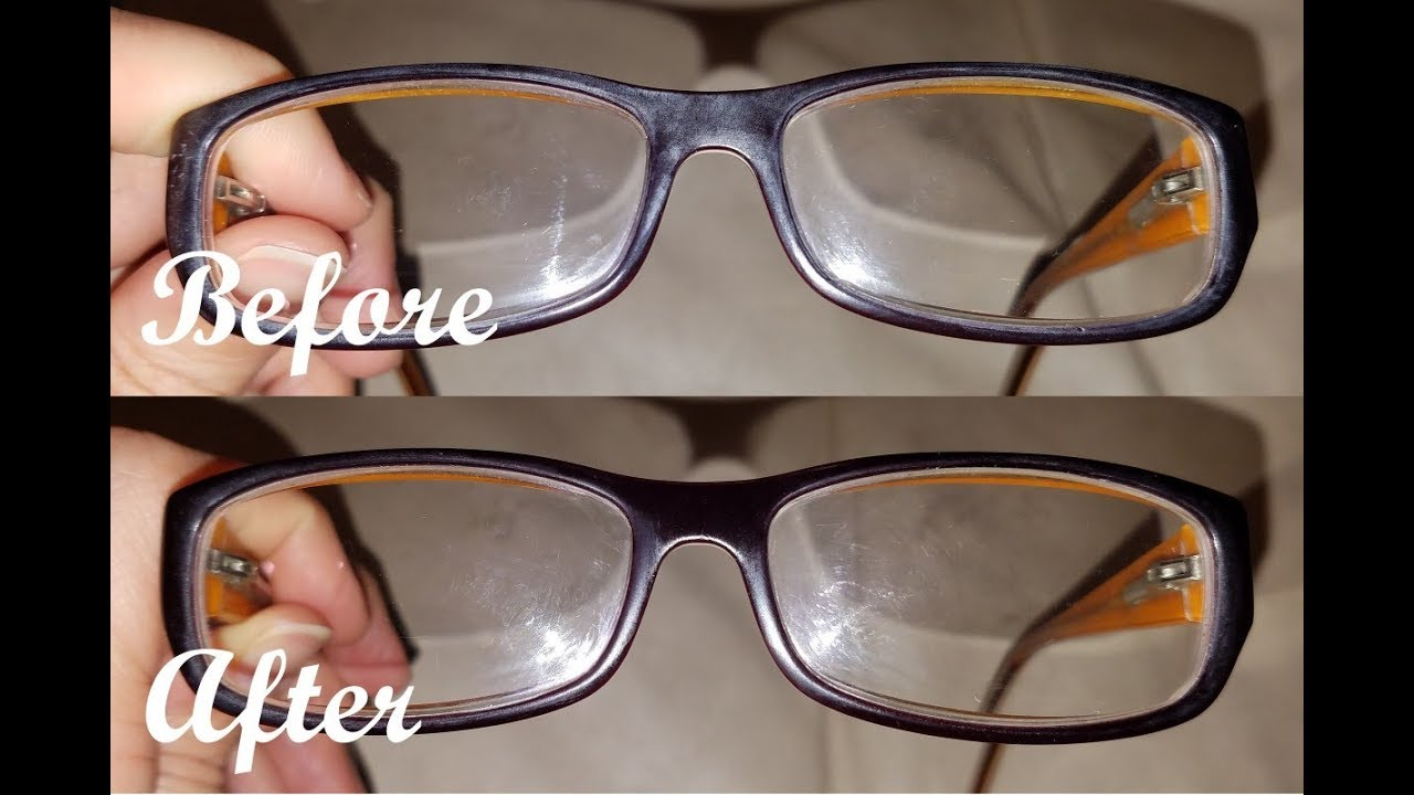 How To Remove Scratches On Your Eye Glasses Using Baking Soda Youtube