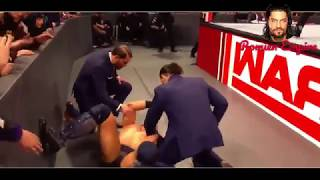 The Miz vs Roman Riegns Intercontinental championship Match Full ,29 jan 2018 Raw