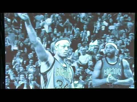 Celtics Paul Pierce Tribute In-Game vs Brooklyn