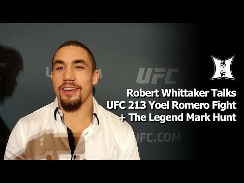 Robert Whittaker: I Can Beat Yoel Romero At UFC 213, But Can't Fill Mark Hunt's Shoes