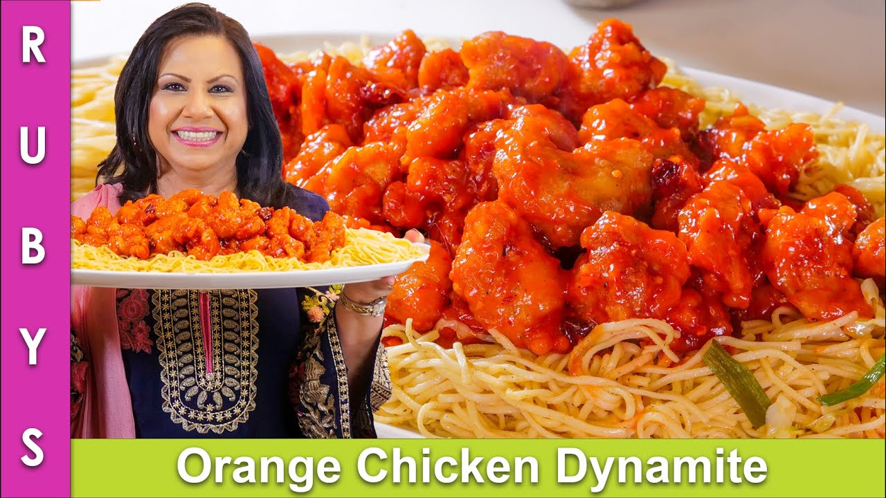 Orange Chicken Dynamite With Noodles Recipe In Urdu Hindi Rkk Youtube