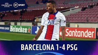 Barcelona v Paris Saint-Germain (1-4) | Mbappé bags Nou Camp hat-trick | Champions League Highlights