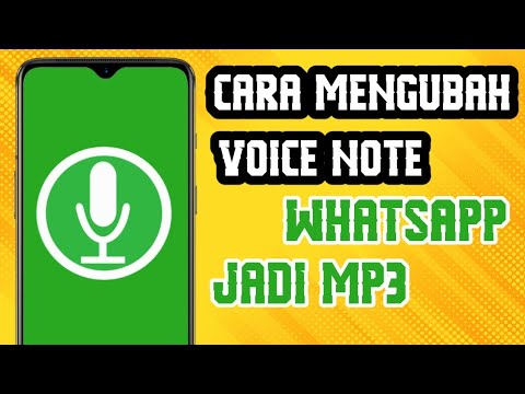 Cara Ubah Voice Note Wa Jadi Mp3 Terbaru Youtube