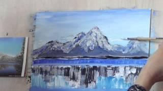 Копия видео как рисовать горы(техника живописи гуашью., 2015-02-04T14:46:17.000Z)