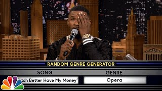 "Jimmy and Jamie sing popular songs in different musical styles, like ""Who Let the Dogs Out"" as a Broadway musical and ""Bitch Better Have My Money"" as an ..."
