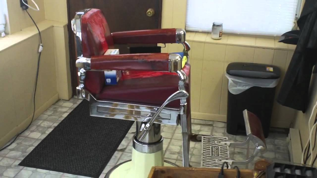 "Belmont Barber Chairs For Sale 1950's Belmont Barber Chair ""BEFORE""... Hess EZY Shave Straight Razor ..."