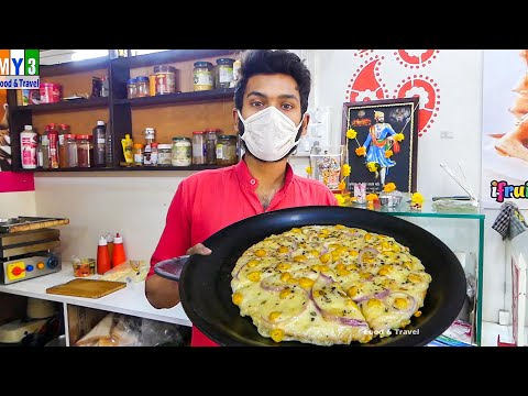 CHEESE BURST CORN PIZZA - Loaded With Chees -  2021 Mumbai Street Food  #Shorts