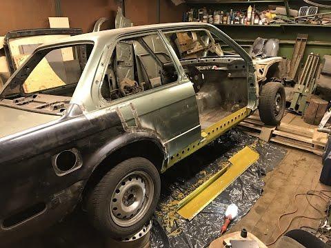 BMW E30 REBUILDING | ЗАМЕНА ПОРОГА. КРАСИМ И ВВАРИВАЕМ УСИЛИТЕЛЬ