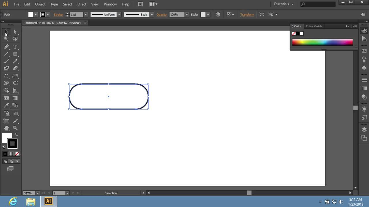 How to Create a Button in Adobe Illustrator CS6 - YouTube