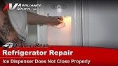 Refrigerator Repair- Replacing the Ice Dispenser Door ... on