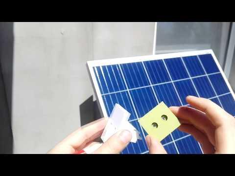 Бюджетное крепление для солнечных батарей amerisolar